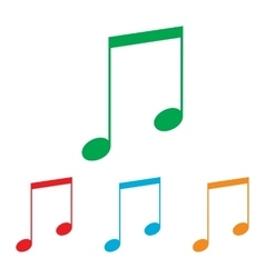 Music sign colorfull set vector