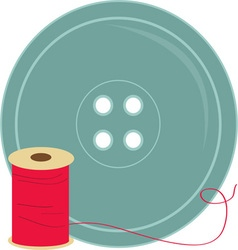 Button and thread vector