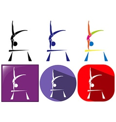 Sport icon design for gymnastics with beam vector