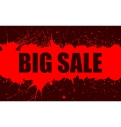 Sale banner with bright ink red blots vector