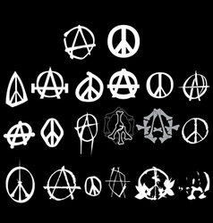 Anarchy peace logo vector