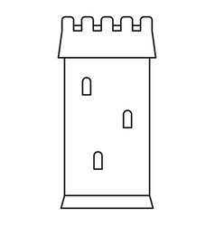 ancient battle tower icon outline style vector image