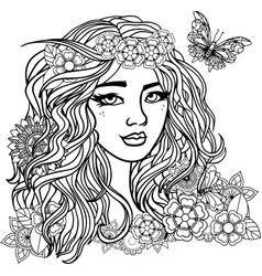 beautiful woman on a white background vector image