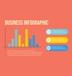 Business infographic design graph and step vector