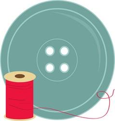 Button and thread vector
