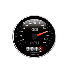 Calendar 2018 in speedometer car vector