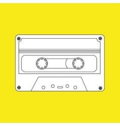 Cassette tape design vector