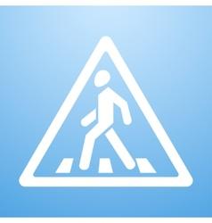 Crosswalk sign vector image vector image
