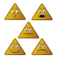 emoticon triangle vector image vector image