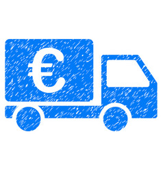 Euro collector car grunge icon vector