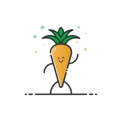 Funny carrot character vector