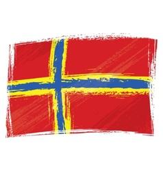 Grunge Orkney flag vector image