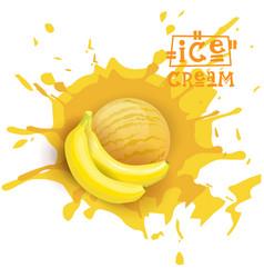 ice cream banana ball fruit dessert choose your vector image vector image