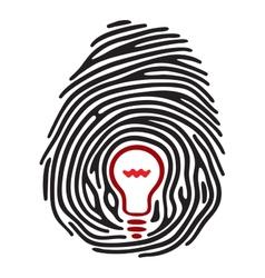 Light bulb fingerprint vector