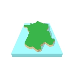 Map of france icon cartoon style vector