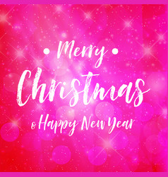 Merry christmas - pink background sparkle vector