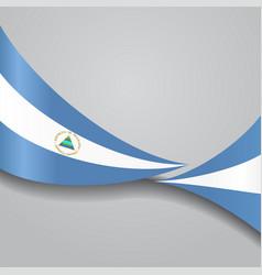 nicaraguan wavy flag vector image vector image