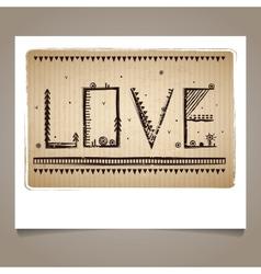 PrintEthnic Valentines sign vector image vector image