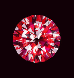 ruby on a black background vector image
