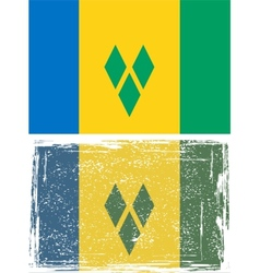 Saint Vincent and the Grenadines grunge flag vector image vector image