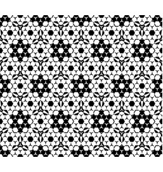 Seamless pattern hexagonal elements vector