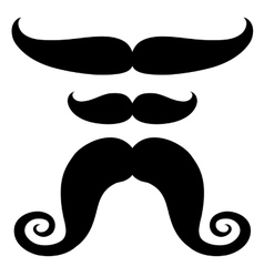 Set of mustache of different shapes vector