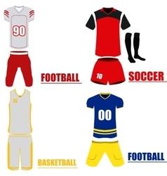 Set of sport uniforms vector image
