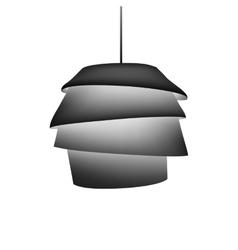 Silhouette of modern design chandelier vector
