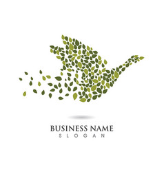 swan logo template design vector image vector image