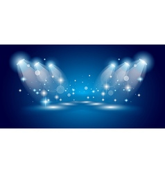 Theatre Show Spotlights with lights ans stars vector image