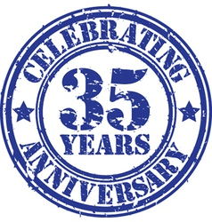 Valuablcelebrating 35 years anniversary grunge rub vector