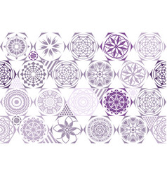 Violet purple seamless ceramic tile with vector