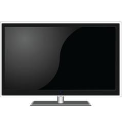 widescreen TV vector image vector image