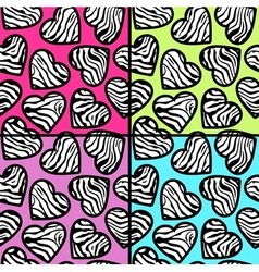 zebra print backgrounds set vector image vector image