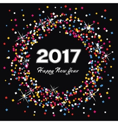 Happy new year 2017 celebration card vector