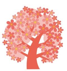 Concept decorative pink tree blossom vector
