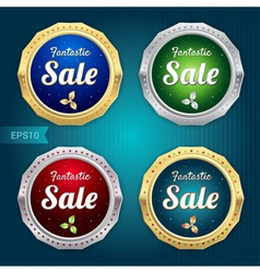 Set of sale tag label and badge vector
