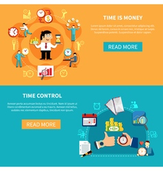 Control Time Horizontal Banners vector image