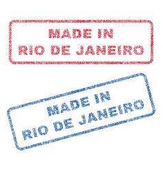 Made in rio de janeiro textile stamps vector