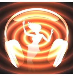 dancing music vector image