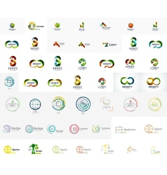 Mega collection of abstract company logo designs vector