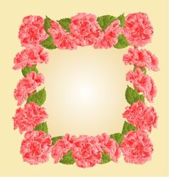 Frame with pink hibiscus greeting card vector