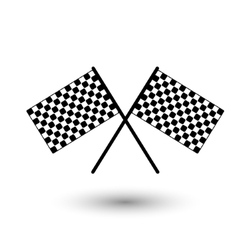 Start flag checkered flag vector
