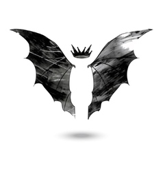 Bat wings with crown vector