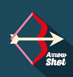 Arrow shot design vector