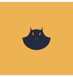 Executioner evil face mask icon vector