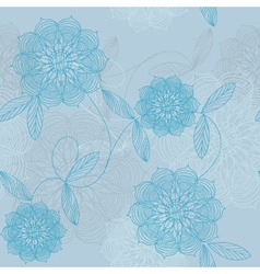 Lacy blue flowers vector