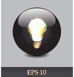 Fiery bulb vector
