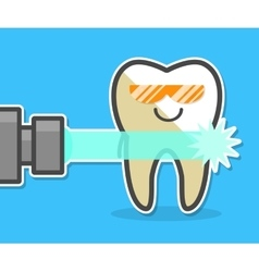 Laser teeth whitening concept vector