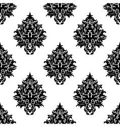 Abstract seamless flourish pattern in damask style vector